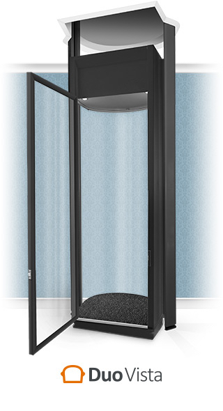 Duo Vista Full-Height Black Home Lift