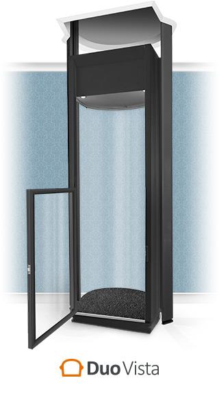 Duo Vista Half-Height Black Home Lift