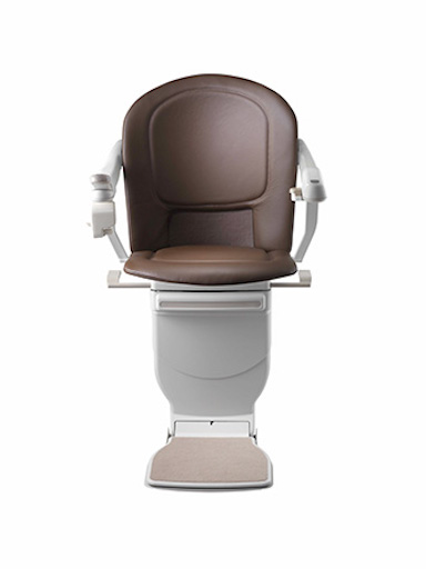 Stannah Sofia Stairlift - Cocoa Leather Model