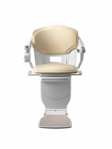 Stannah Solus Stairlift - Cream Leather
