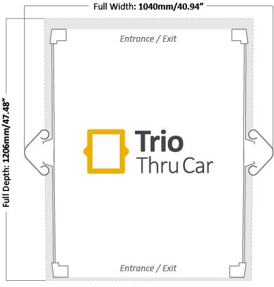 Trio Thru Car Footprint