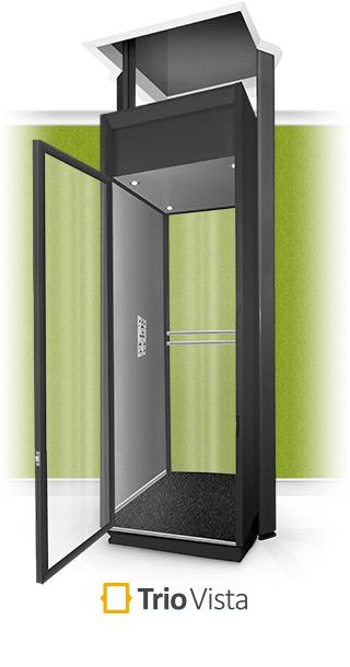 Trio Vista Full Height Black Home Lift