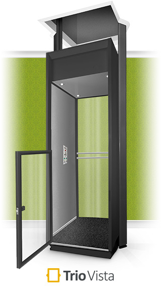 Trio Vista Half Height Black Home Lift